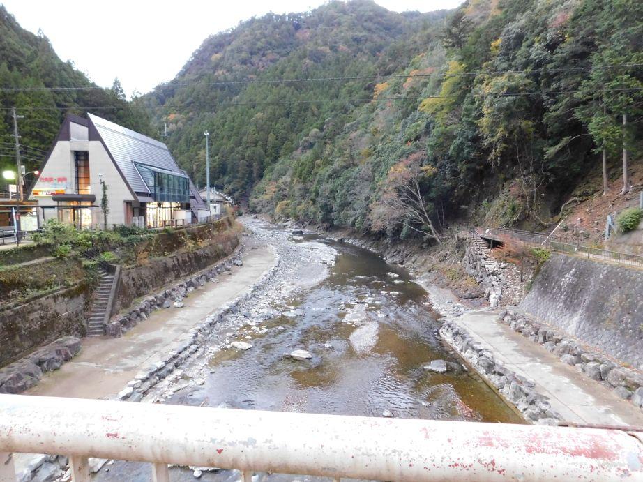 上北山温泉薬師湯へ渡る橋