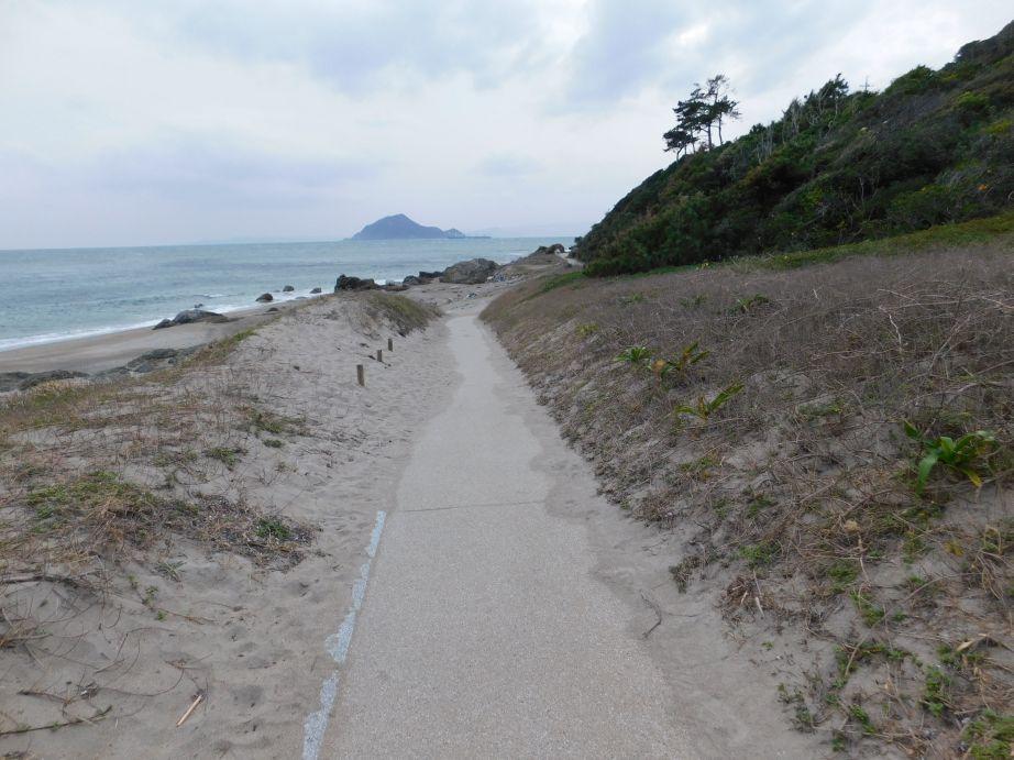 伊良湖岬灯台への道