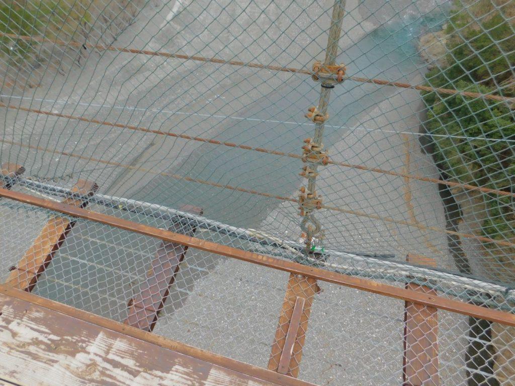 谷瀬の吊り橋から見た下
