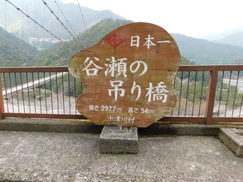 谷瀬の吊り橋の説明