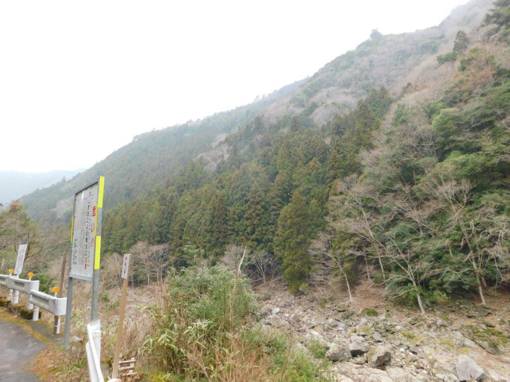 不動滝周辺の山