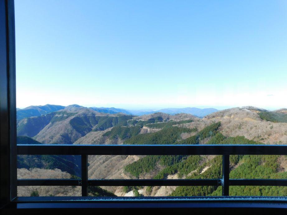 道の駅 ごまさんスカイタワー展望台から見た風景(西側)