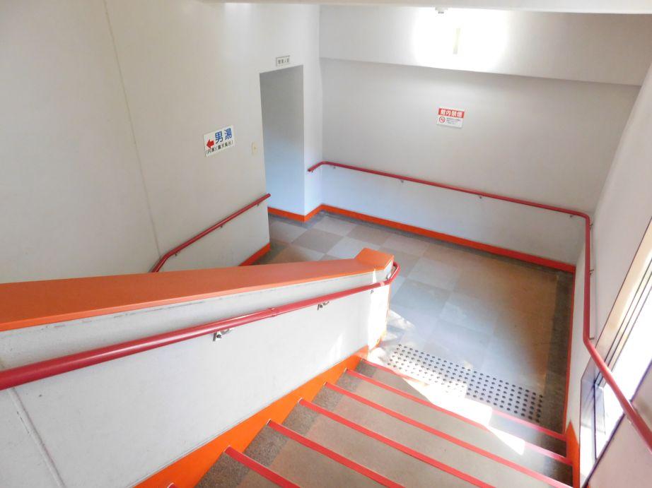 龍神温泉 元湯の浴室に向かう階段